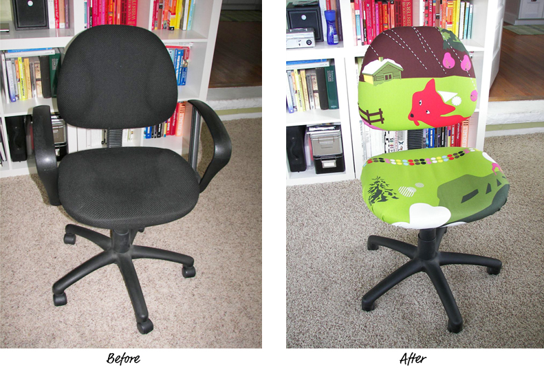 before and after - Office Chair: Recovered Two Sweet Homes